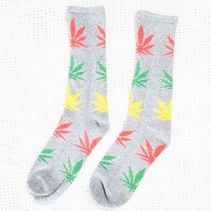 Accessories - 😎End of Summer Sale Cannabis Leaf Mary Jane Socks